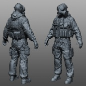 sas zbrush, high resolution 3d model